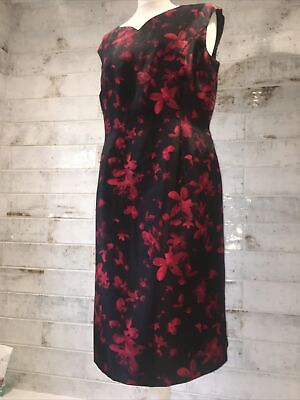 AU11.05 • Buy Jaques Vert Women's Size 14 Special Occasion Satin Dress Worn Once Black
