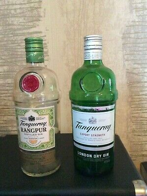 £9.99 • Buy 2 X Empty Collectable Tanqueray Gin Bottles - Freepost Uk