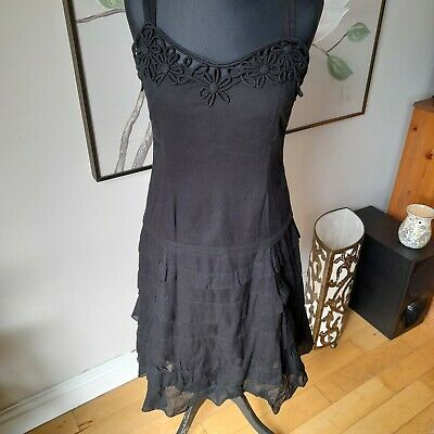 £6.99 • Buy Nougat London Summer Dress, Lined, Overlay As Pics  Size 2 - See Description