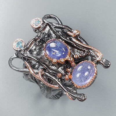 £11.32 • Buy Jewelry Unique SET Tanzanite Ring Silver 925 Sterling  Size 6.5 /R157510