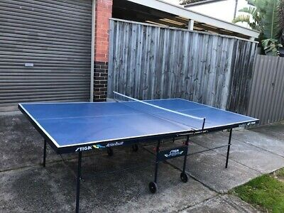 AU100 • Buy Stiga Table Tennis Table - Excellent Condition - Fold Able On Wheels