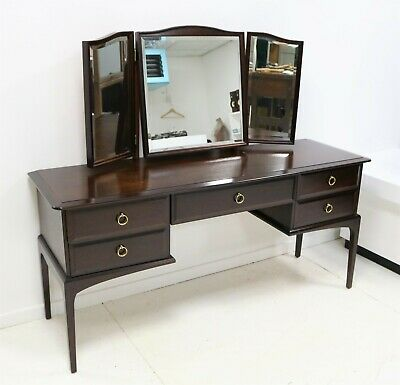 £175 • Buy Beautiful 1960s Stag Minstrel Mahogany Dressing Table With Triple Vanity Mirror