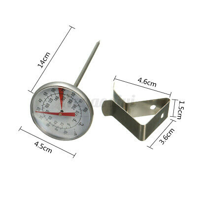 £4.99 • Buy Metal Clip On Food Thermometer Dial Gauge 10-100°C Candle, Jams & Soap Making