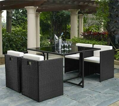 £399.99 • Buy Cube Rattan Garden Furniture Dining Set. 4 Seater With Dining Table And Chairs