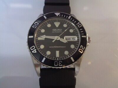 $ CDN11.57 • Buy Seiko Diver Mens Watch Day & Date Automatic 7S26-0050 Black SKX025 SN. 344539