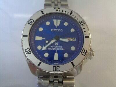 $ CDN28.01 • Buy Seiko Diver Mens Watch Day & Date Automatic 7S26-0020 SKX007 MOD Sea Wave Dial