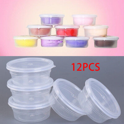 AU12.59 • Buy 12 Pc Slime Storage Containers Foam Ball Storage Cups Containers With Lids AU NE