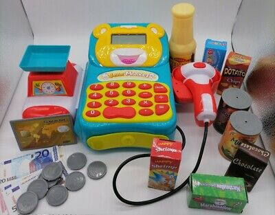 £7.50 • Buy Toy Shop Till Bear Market With Scanner Money And Play Food Imaginative Play Set