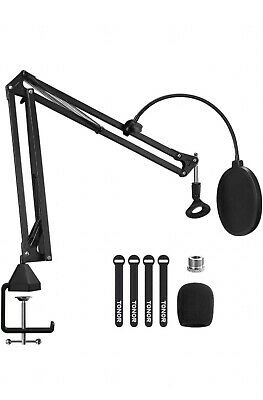 £29 • Buy Microphone Arm Stand, TONOR Adjustable Suspension Boom Scissor Mic Stand, Filter