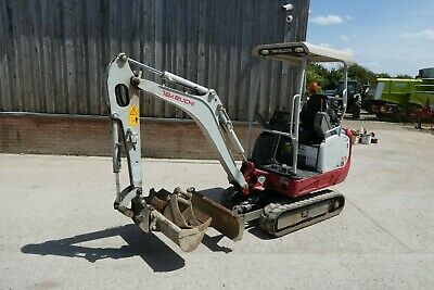£11999 • Buy Takeuchi Tb216 Tracked Digger Year 2016 3 Buckets Blade Expanding Tracks 2 Speed