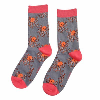 £5.99 • Buy Ladies Bamboo Soft Ankle Socks Octopus Grey One Size