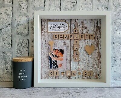 £26 • Buy (g) Scrabble Picture Photo Frame Love Engagement Wedding Anniversary Friends
