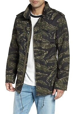 $48 • Buy ALPHA INDUSTRIES New M-65 Defender Waxed Camo Field Jacket Olive Military M