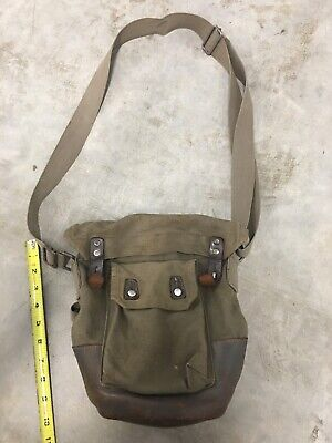 $16.99 • Buy  RARE! Swedish M1936 Canvas And Leather Gas Mask Bag No Reserve!