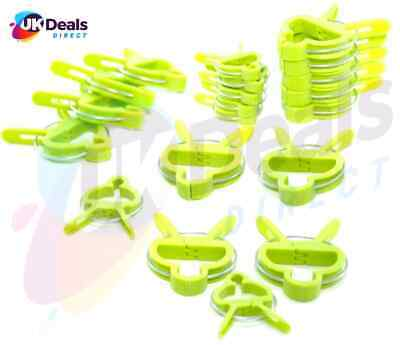 £3.92 • Buy Re Useable Garden Clips Plant Clips Cane Support Sprung Clips Reusable 20pc