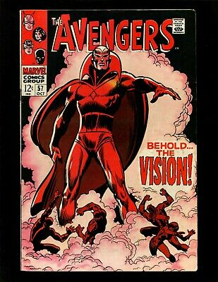 £161.16 • Buy Avengers #57 FN+ Buscema 1st Vision Black Widow Black Panther Death Of Ultron-5