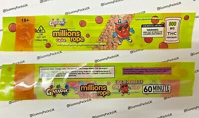 £9 • Buy 20 X Millions Cola Rope Candy - EMPTY Cali Pack Bag - For Gummies Sweets Gummy