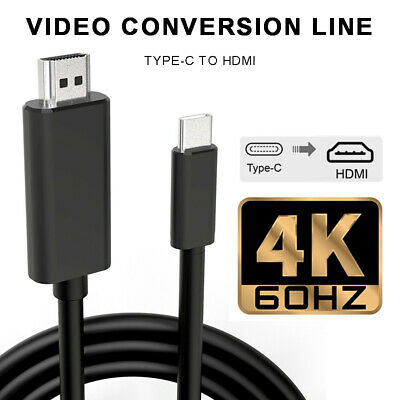 $10.58 • Buy For Macbook Pro Samsung Huawei USB-C Type-C To HDMI 4K HD TV AV Adapter Cable US
