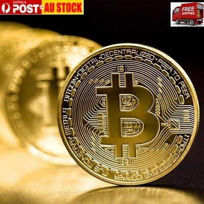 AU15.99 • Buy 5Pcs Gold Bitcoin Commemorative New Collectors Gold Plated Collectible Coin 2021