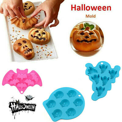 £3.18 • Buy Halloween Christmas Ghost Silicone Ice Cube Tray Mould Cake Chocolate Bake Mold