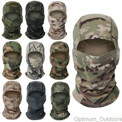£7.99 • Buy Lightweight Breathable Camouflage Balaclava Airsoft Army Face Head Cover Camo UK