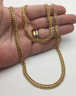 £270 • Buy 9ct Yellow Gold Double Link Chain Necklace & Bracelet Set