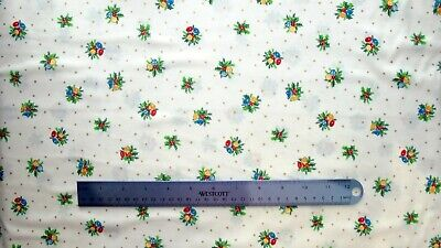 £6.50 • Buy Fabric Christmas Holly Bells 112cm Wide By Nutex 100% Cotton Cream