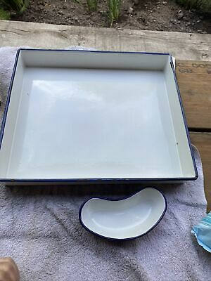 £45 • Buy Vintage Surgical Enamel Tray  & Kidney Dish Medical Surgery Equipment
