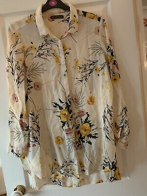 £1.98 • Buy Ladies Marks And Spencer Multi Floral Longline Shirt Top Blouse Uk Size 16 Great