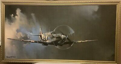 £22 • Buy Spitfire Picture By Barrie A.F. Clark - Vintage - Very Large - Gold Frame -