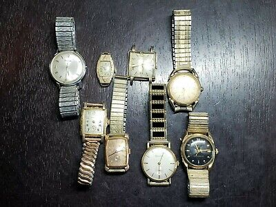 $ CDN74.70 • Buy Lot Of Eight Bulova Wrist Watches 7 Men's, 1 Ladies.  7 Gold Filled, 1 Stainless