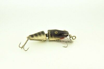 $ CDN1.23 • Buy Vintage Creek Chub Jointed Spinning Pikie Antique Fishing Lure Black Scale RS4