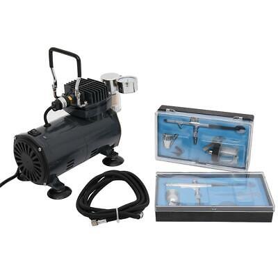 £58.86 • Buy New Airbrush Compressor With Air Brush Kit Double Action Spray Kit Paint Nail