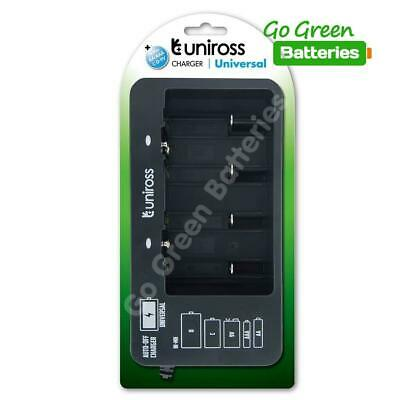 £12.99 • Buy Universal Rechargeable Battery Charger Uniross For AA AAA C D 9v PP3 Nimh Mains