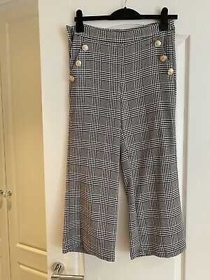 £10 • Buy Lulumary Forever Unique Trousers Dogtooth Checked Size 1 8/10 Buttons Smart