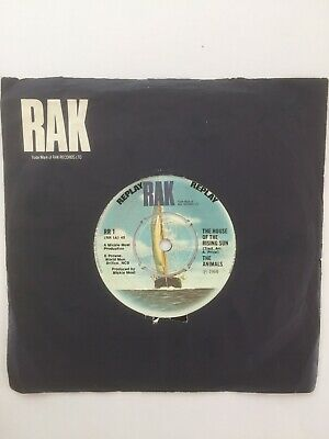 £4.95 • Buy THE ANIMALS - The House Of The Rising Sun 7  Vinyl Single Fully Play Tested VG+