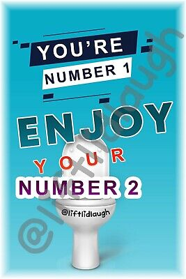 £4.99 • Buy Lift Lid Laugh Toilet Humour A4 Stickers Funny Gift Number 2