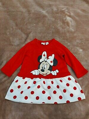 £5 • Buy Red And White Minnie Mouse Girls Baby Dress