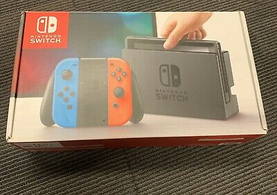 AU122.50 • Buy Nintendo Switch HAC-001 Neon Blue/Red Handheld Console