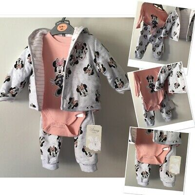 £8.95 • Buy New Tags Prk Disney Minnie Mouse Joggers Set & Jacket Cardigan 3-6 Months