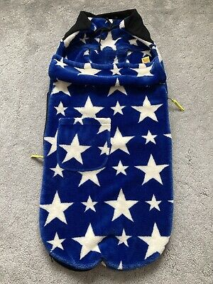 £15 • Buy Buggy Snuggle Footmuff Blue With White Stars
