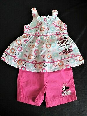 £9.99 • Buy Baby Girls Minnie Mouse Shorts & Top Age 6-9 Month