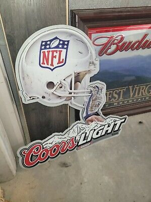 $ CDN49.79 • Buy Coors Light Metal Beer Sign NFL 24 Inch Tall By 23 Inch Wide