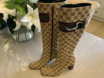 £325 • Buy Gucci GG Monogram Canvas Boots Uk 6 / 39