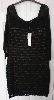£12 • Buy Roman Black Lined Dress Size 20 - New With Tags - Style No 60943