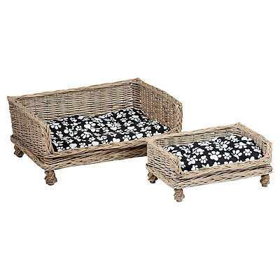 £19.99 • Buy Me & My Pets Raised Wicker Pet Bed Basket Puppy/dog/cat/kitten Washable Cushion