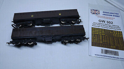 £5 • Buy 2 Lima 00 Scale GWR Syphon Wagons Kit Bashed. Repainted And Pack Of Decals