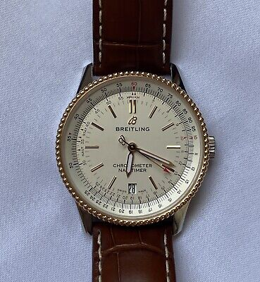 £2900 • Buy Breitling Navitimer 1 Automatic 38 - Red Gold & Steel. Warranty, Box & Papers