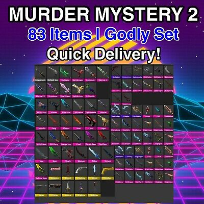 $ CDN68.93 • Buy Murder Mystery 2 MM2 All Godlies, Vintages, Ancients (Godly Set 83 Items Roblox)