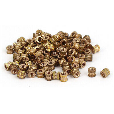 $6.33 • Buy 100pcs M2*3mm Brass Cylinder Knurled Threaded Round Insert Embedded Nuts US